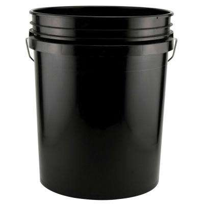 5-Gal. Black Bucket (Pack of 3)