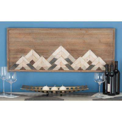 """Mountain-Inspired"" Wooden Wall Art"