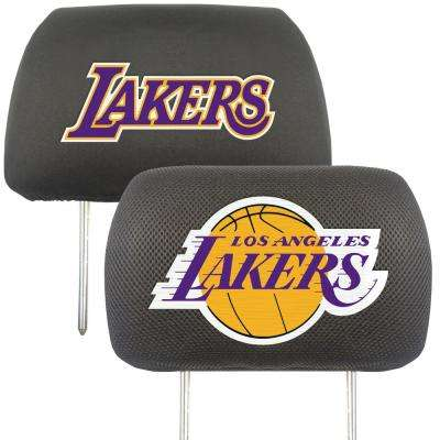 NBA - Los Angeles Lakers Mesh 13 in. x 10 in. Head Rest Cover