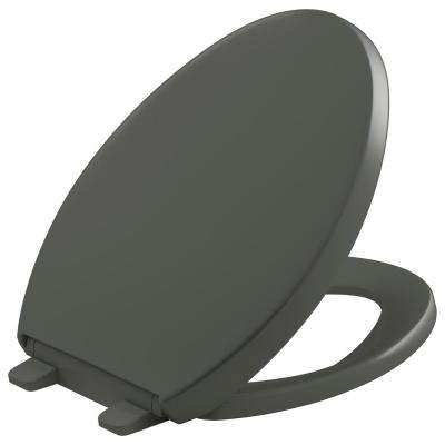 Grip Tight Reveal Q3 Elongated Closed Front Toilet Seat in Thunder Grey