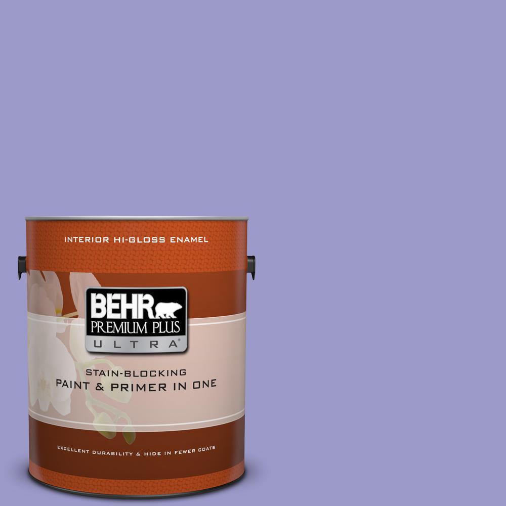 1 gal. #630B-5 Majestic Violet Hi-Gloss Enamel Interior Paint