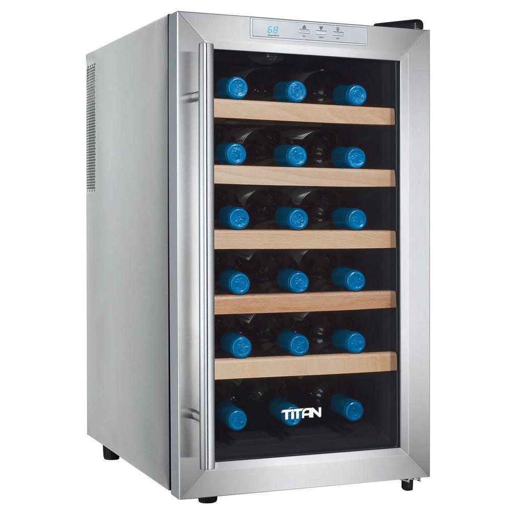 18bottle single zone wine cooler