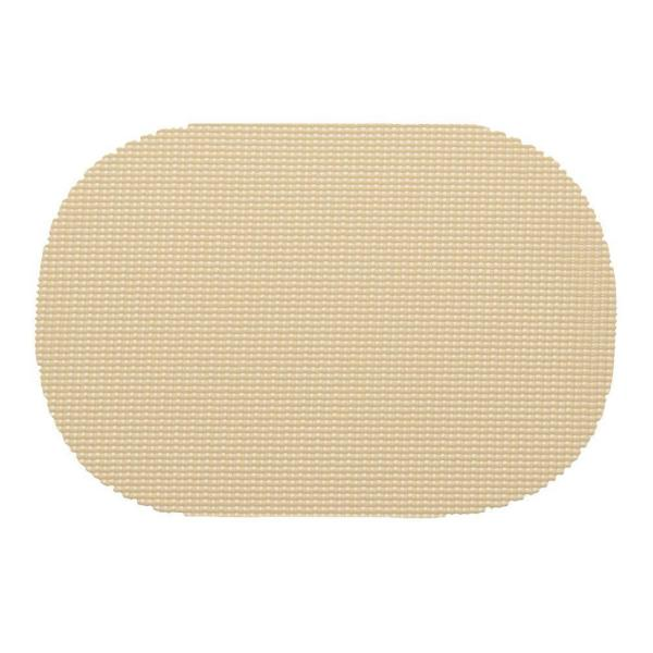 Kraftware Fishnet Oval Placemat in Ivory (Set of 12) 11336
