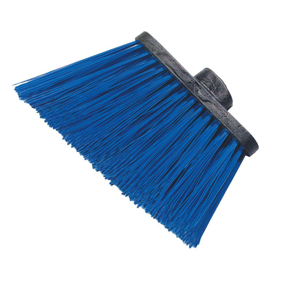 8 in. Flagged Angle Broom with 12 in. Flare Blue Bristles
