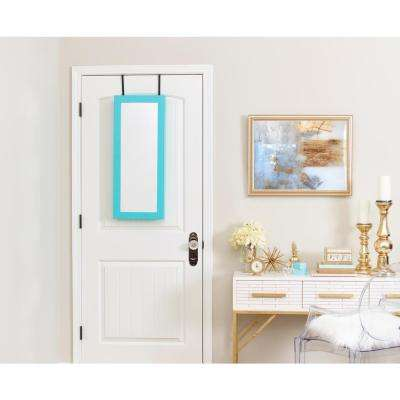 Space Saver Mirrored Jewelry Armoire - Turquoise