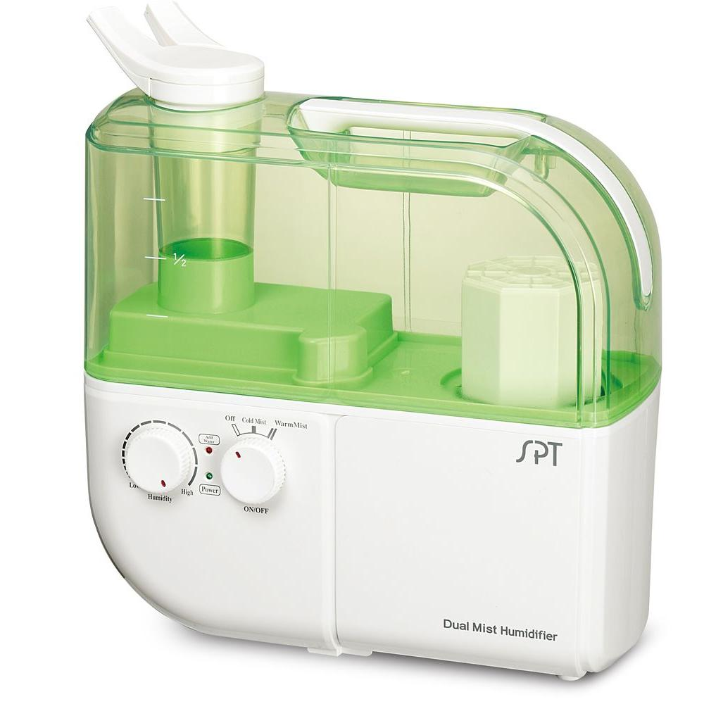 Dual Mist Humidifier with ION Exchange Filter, Green