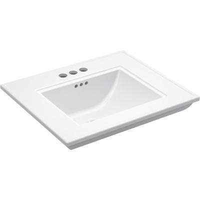 Memoirs Stately 24.5 in. x  4 in. Centerset Console Sink Basin in White
