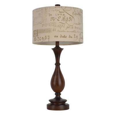Script 29.25 in Brown Table Lamp with Linen Shade