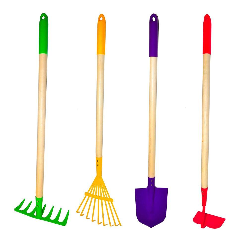 G & F Big Kids Garden Tool Set (4-Piece)