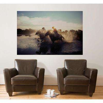 72 in. H x 48 in. W Horses Wall Mural