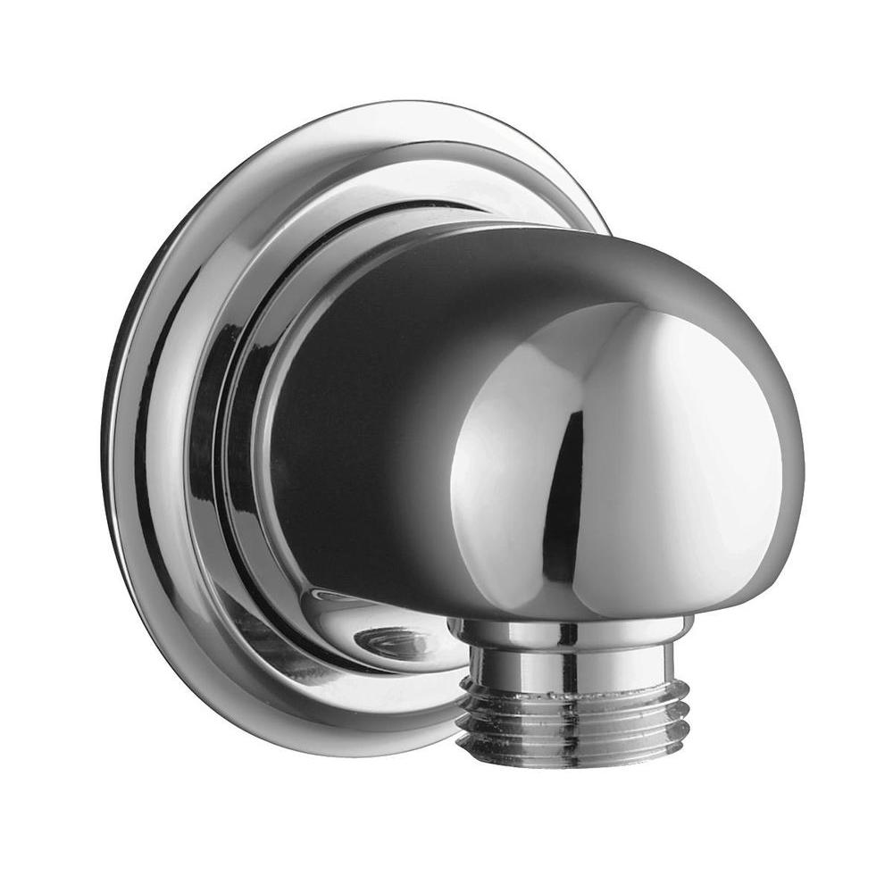 null Forte Wall-Mount Supply Elbow in Polished Chrome