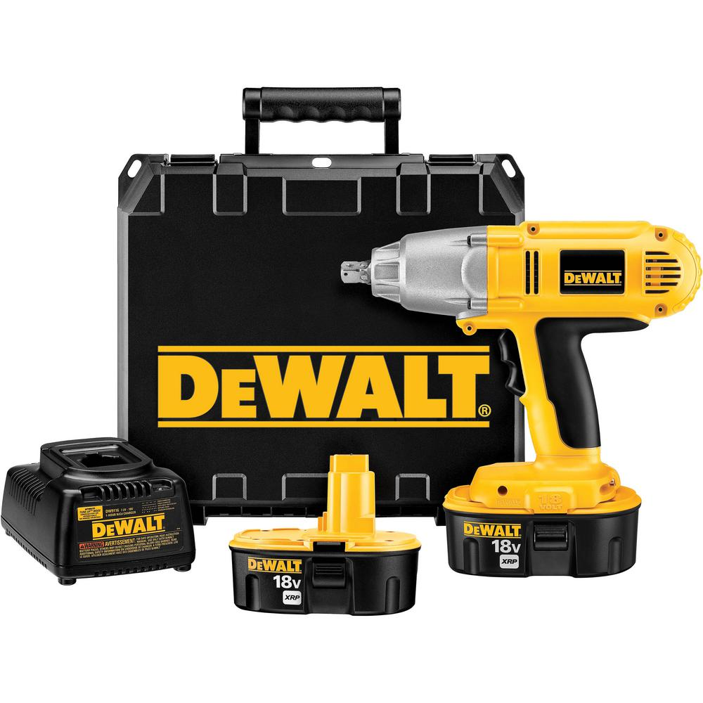 DeWALT 18-Volt XRP NiCd Cordless 1/2 in. Impact Wrench wi...