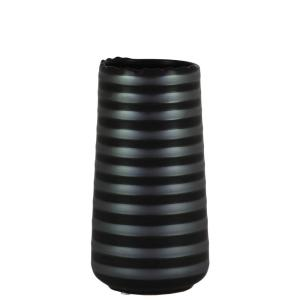 Urban Trends Collection Black, White Matte Finish Stoneware Decorative Vase by Urban Trends Collection