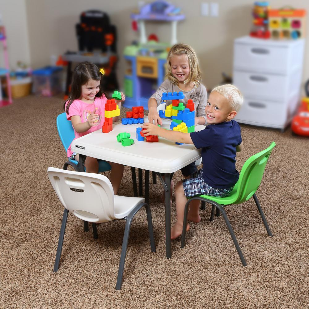 Lifetime Blue Stacking Kids Chair Set of 4 The
