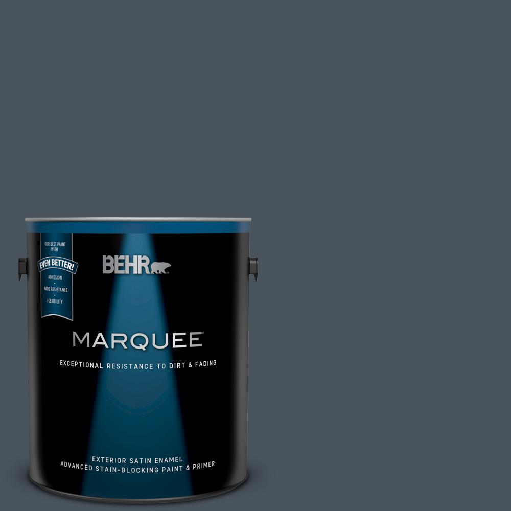 N480 7 Midnight Blue Satin Enamel Exterior Paint And Primer In One