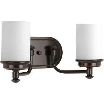 Glide Collection 2-light Rubbed Bronze Bath Light