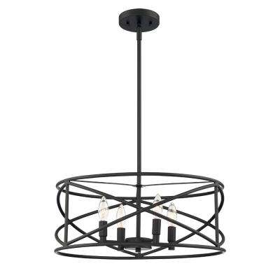 4-Light Satin Bronze Chandelier