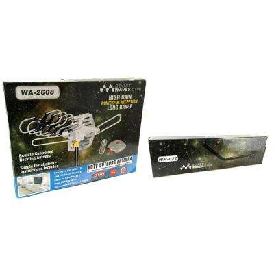 Amplified Outdoor Remote Controlled HDTV Antenna UHF VHF FM Radio 360° Motorized Rotation