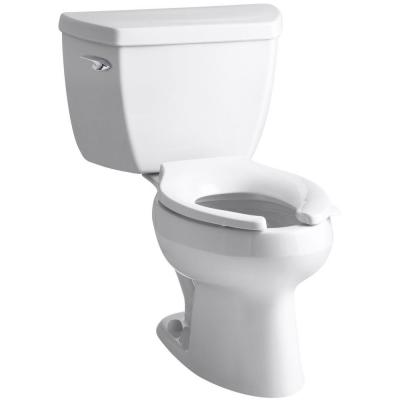 Wellworth Classic 2-Piece 1.6 GPF Single Flush Elongated Toilet in White