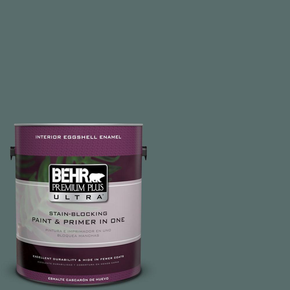 BEHR Premium Plus Ultra 1 gal. #N430-6 Meteorological Eggshell Enamel Interior Paint and Primer in One