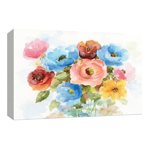 Ptm Images 10 In X 12 In Color Wheel Bouquet I By Ptm Images