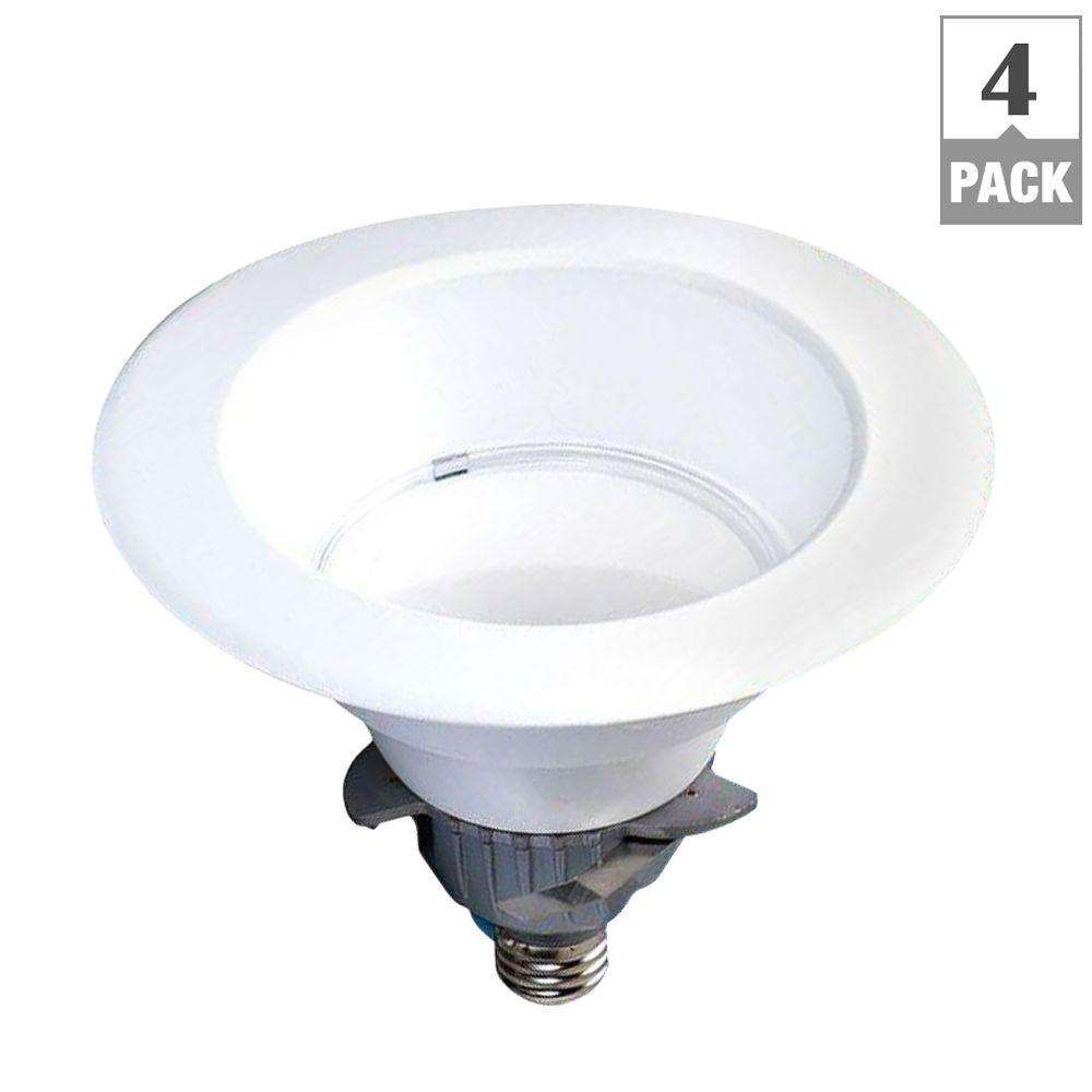 EcoSmart 65W Equivalent Daylight 6 in. Dimmable LED Downlight (4-Pack)