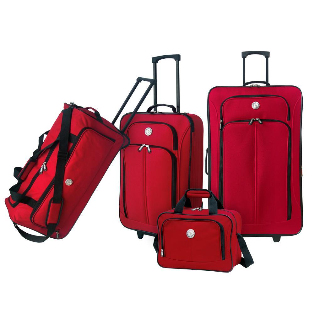 4-Piece Eva-Styled Softside Value Luggage Set