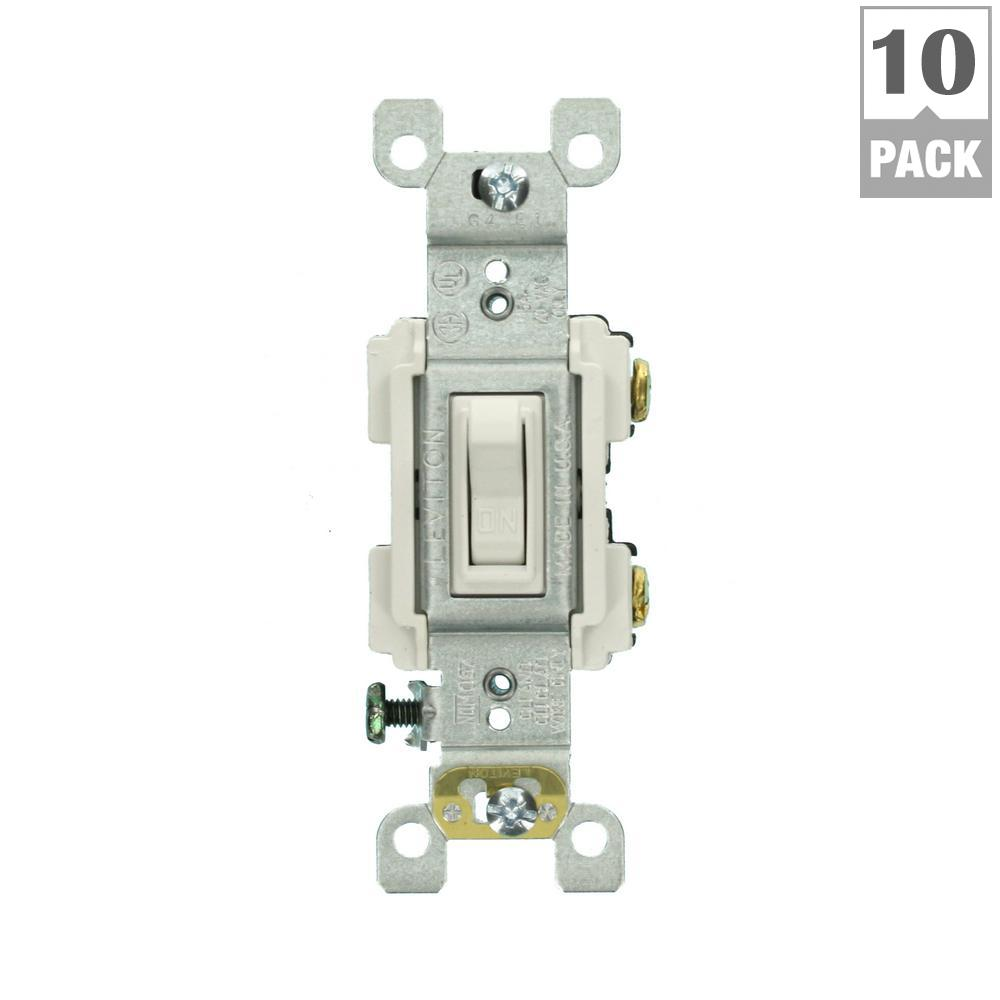 15 Amp Preferred Switch, White (10-Pack)