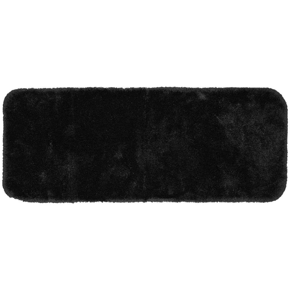 Finest Luxury Black 22 in. x 60 in. Washable Bathroom Accent