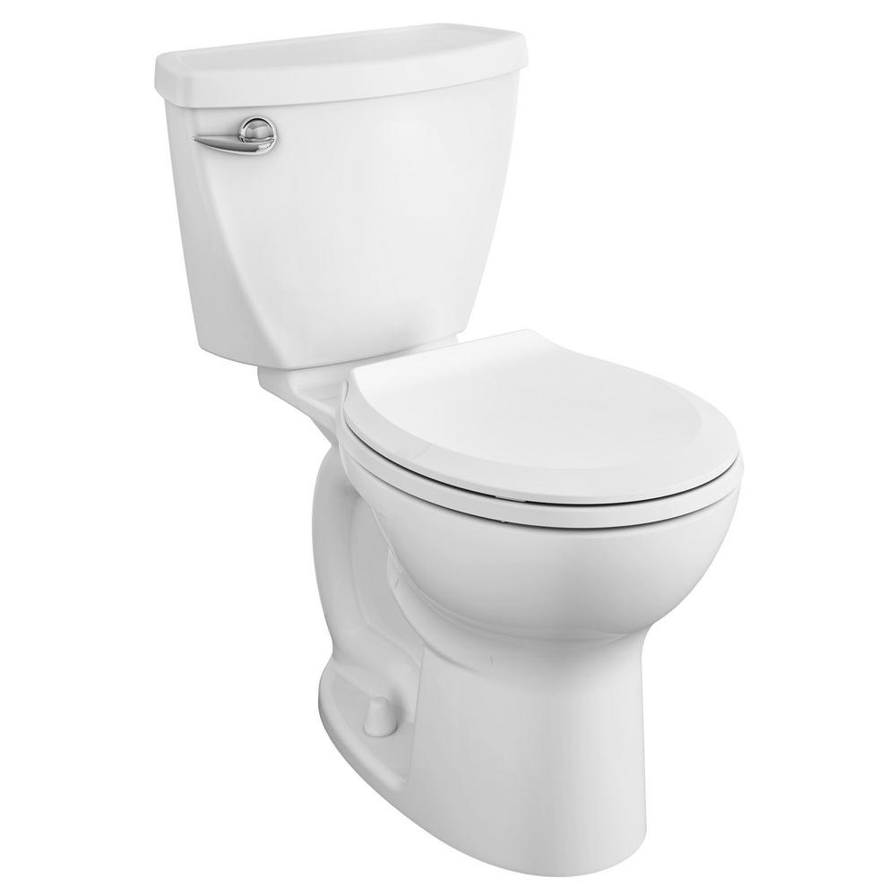 Cadet Tall Height 10 in. Rough-In 2-Piece 1.28 GPF Single Flush Round Toilet with Slow Close Seat in White