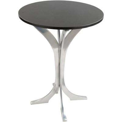 Aumu 26.5 in. Black Side Table