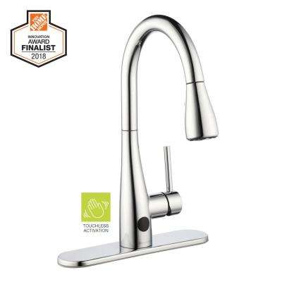 Nottely Touchless Single-Handle Pull-Down Sprayer Kitchen Faucet in Chrome