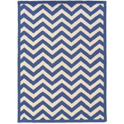 Silhouette Chevron Navy And White 8 Ft. X 10 Ft. Indoor Area Rug