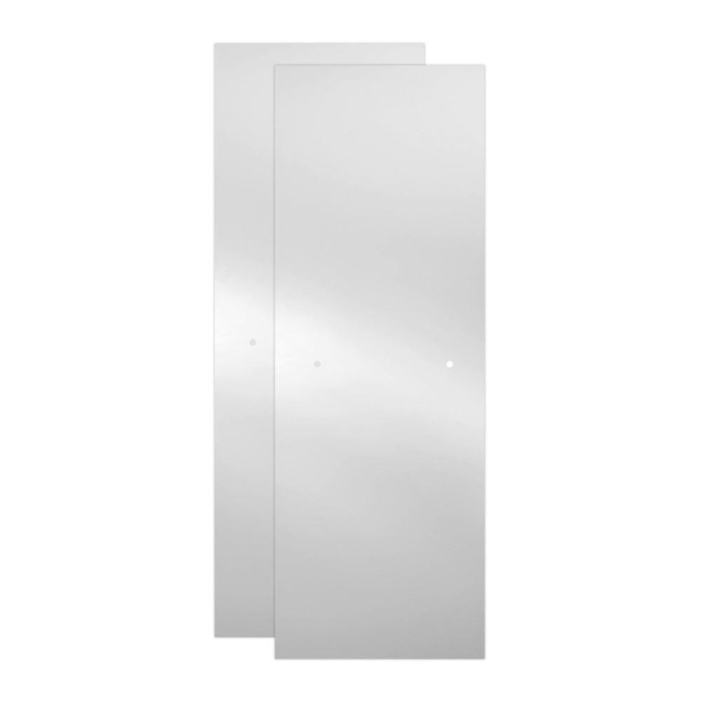 23-17/32 in. x 67-3/4 in. x 3/8 in. Frameless Sliding Shower Door Glass Panels in Niebla (1-Pair for 44-48 in. Doors)