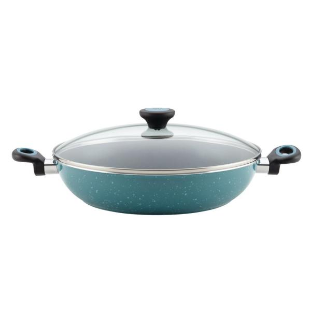 Paula Deen Aluminum Fry Pan with Lid 16982