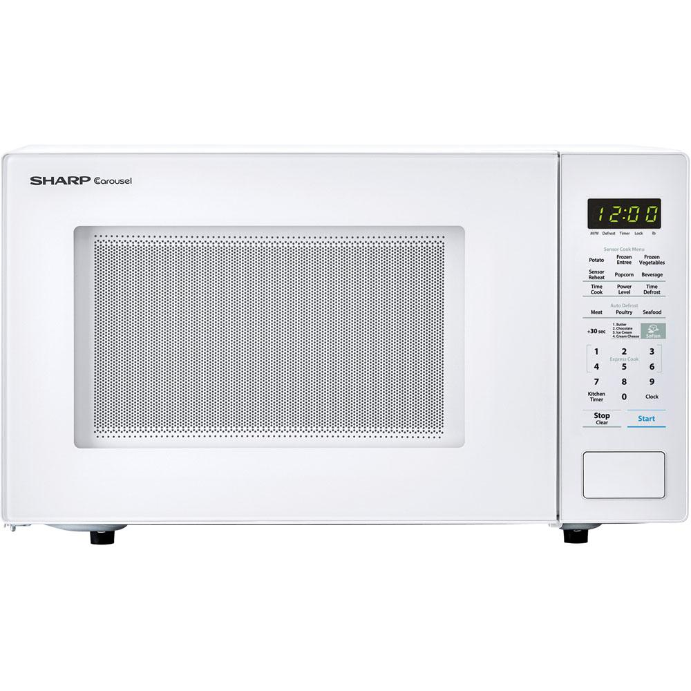 Sharp Carousel 1 4 Cu Ft 1000w Countertop Microwave Oven In White Ista 6