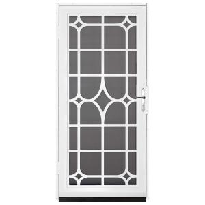 Superbe Unique Home Designs 36 In. X 80 In. Lexington White Surface Mount Steel Security  Door With Insect Screen And Nickel Hardware IDR30000362130   The Home Depot