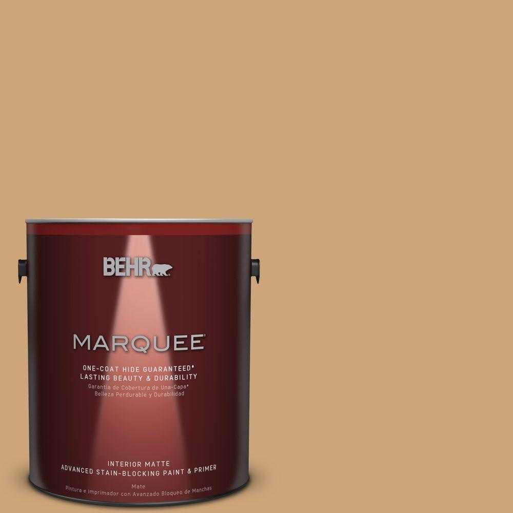 1 gal. #HDC-AC-13 Butter Nut One-Coat Hide Matte Interior Paint
