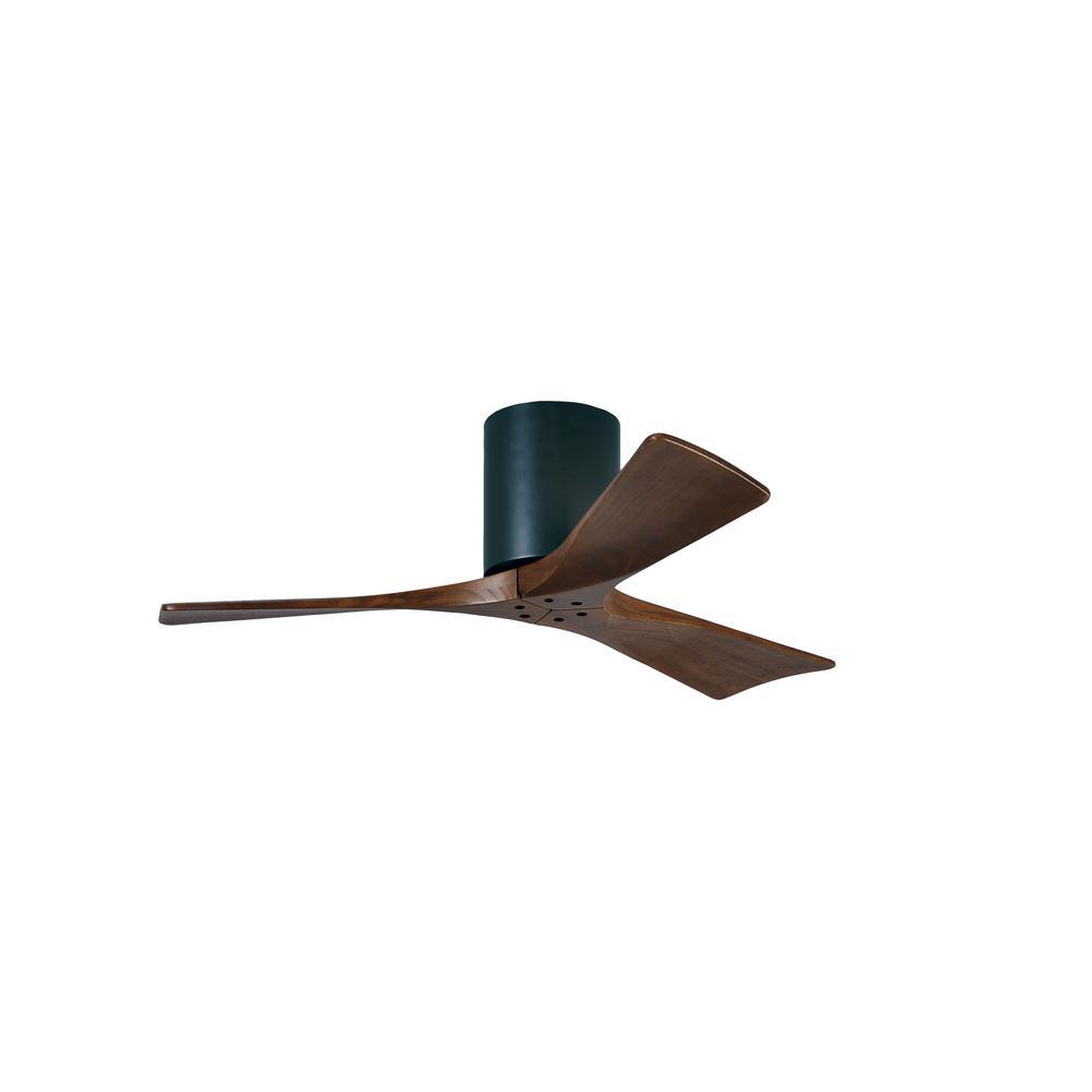 42 black ceiling fan hampton bay atlas irene 42 in indooroutdoor matte black ceiling fan with remote control and