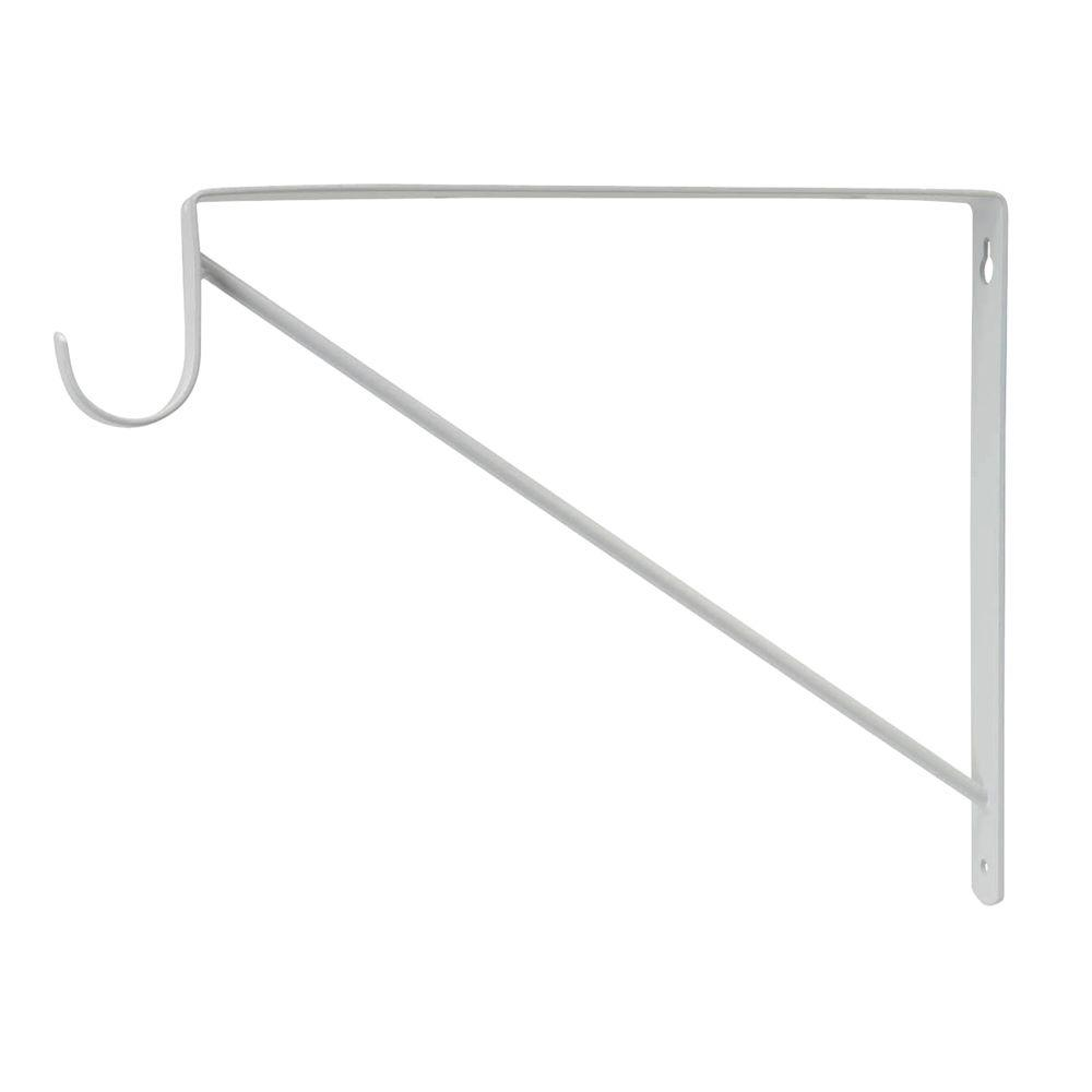 Everbilt White Heavy Duty Shelf Bracket And Rod Support 14317 The Home Depot