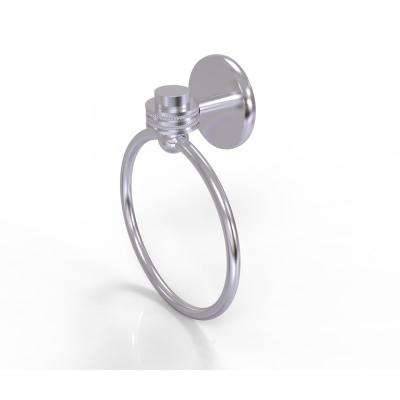 Satellite Orbit One Collection Towel Ring with Dotted Accent in Satin Chrome