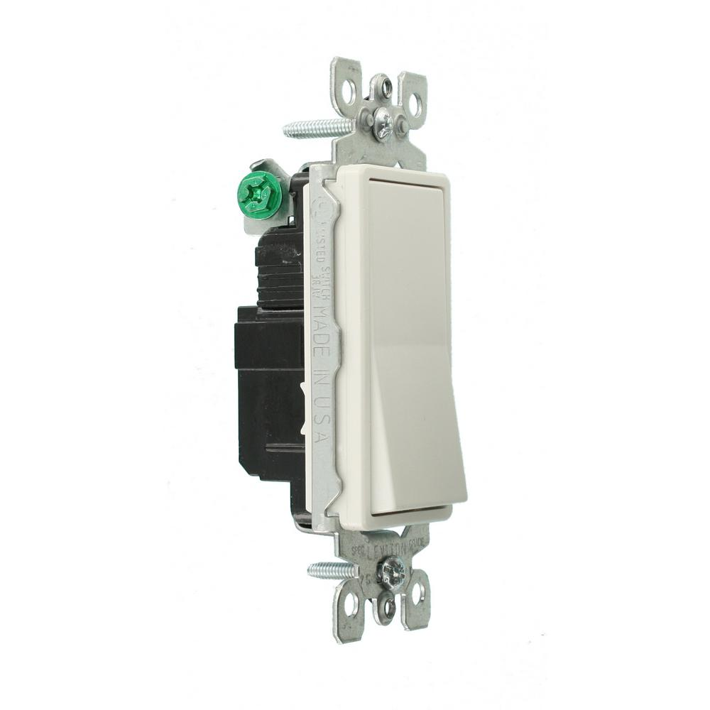 5 Pk Leviton White Decora Illuminated Rocker Single Pole Switch S12-05611-2WS