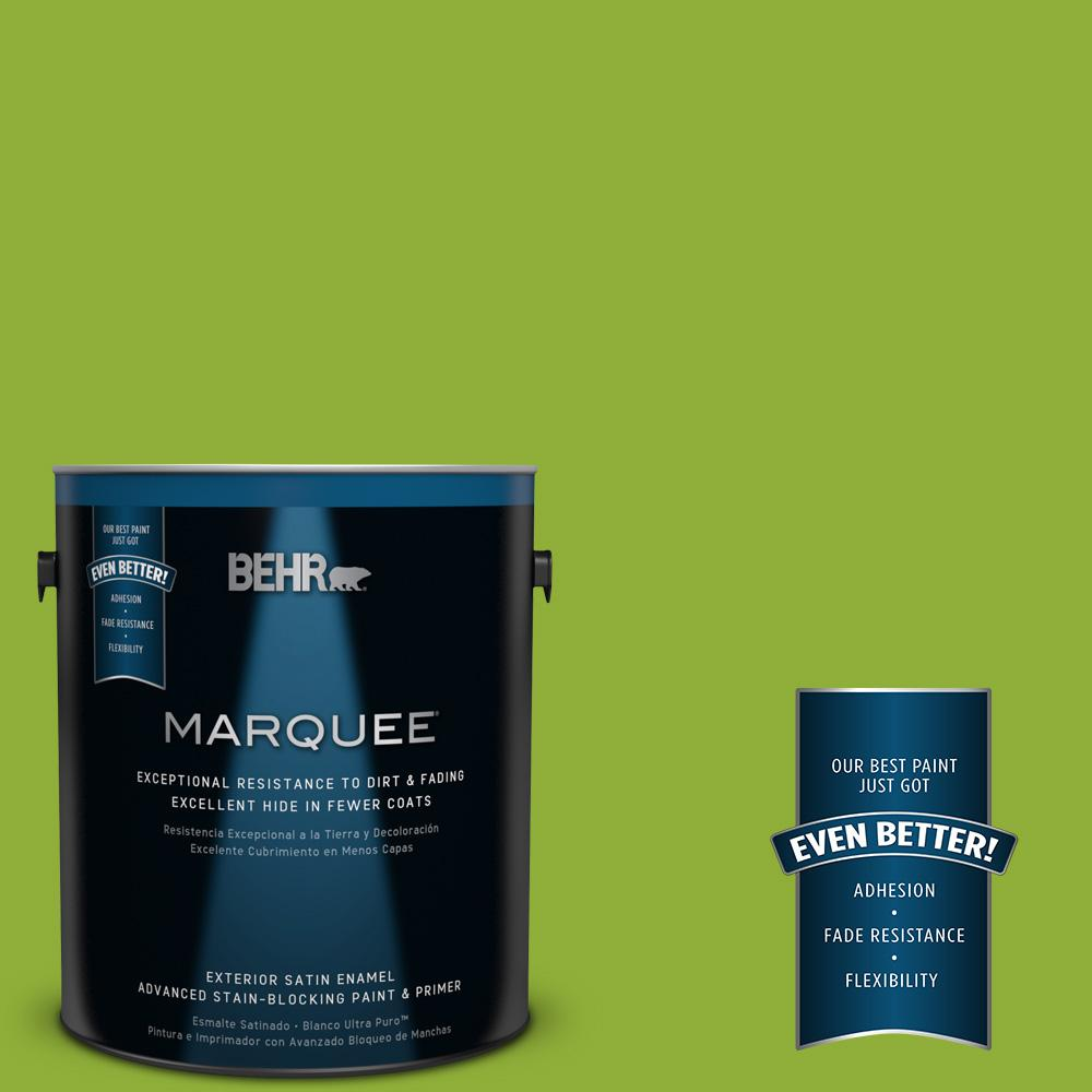 1-gal. #420B-6 New Green Satin Enamel Exterior Paint