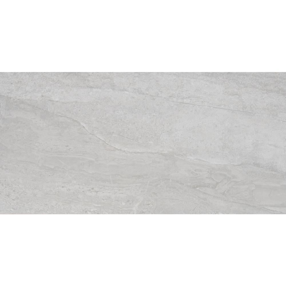 MSI Himalayan Gray 12 in. x 24 in. Glazed Porcelain Floor and Wall Tile (12 sq. ft. / case)