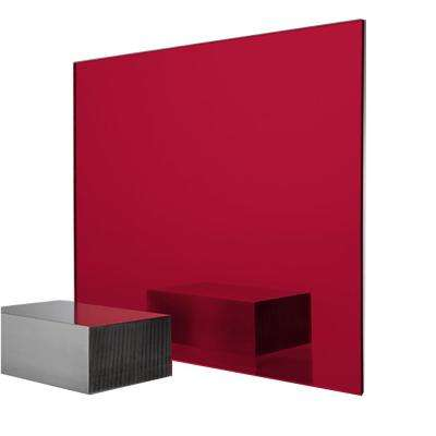 24 in. x 48 in. x 0.118 in. Red Acrylic Mirror