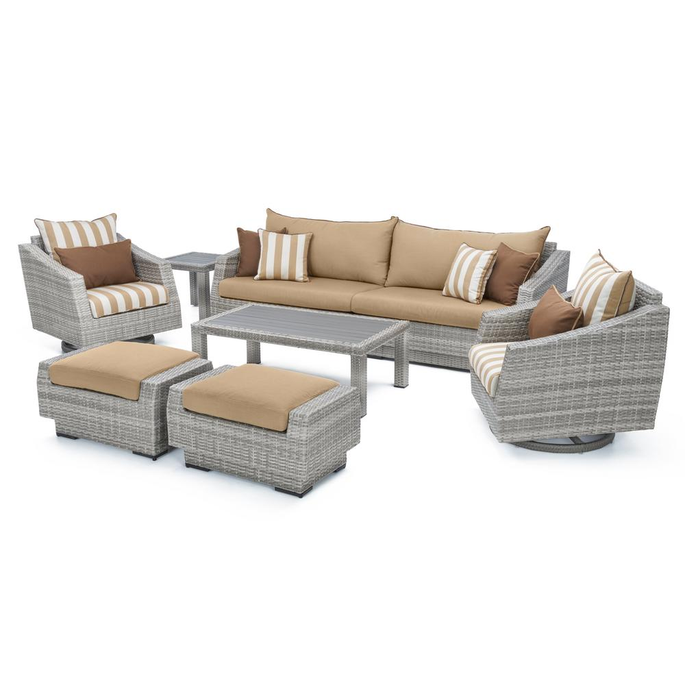 All Weather Wicker Patio Deluxe Sofa Club Chair Conversation Product Picture 377. Order here.