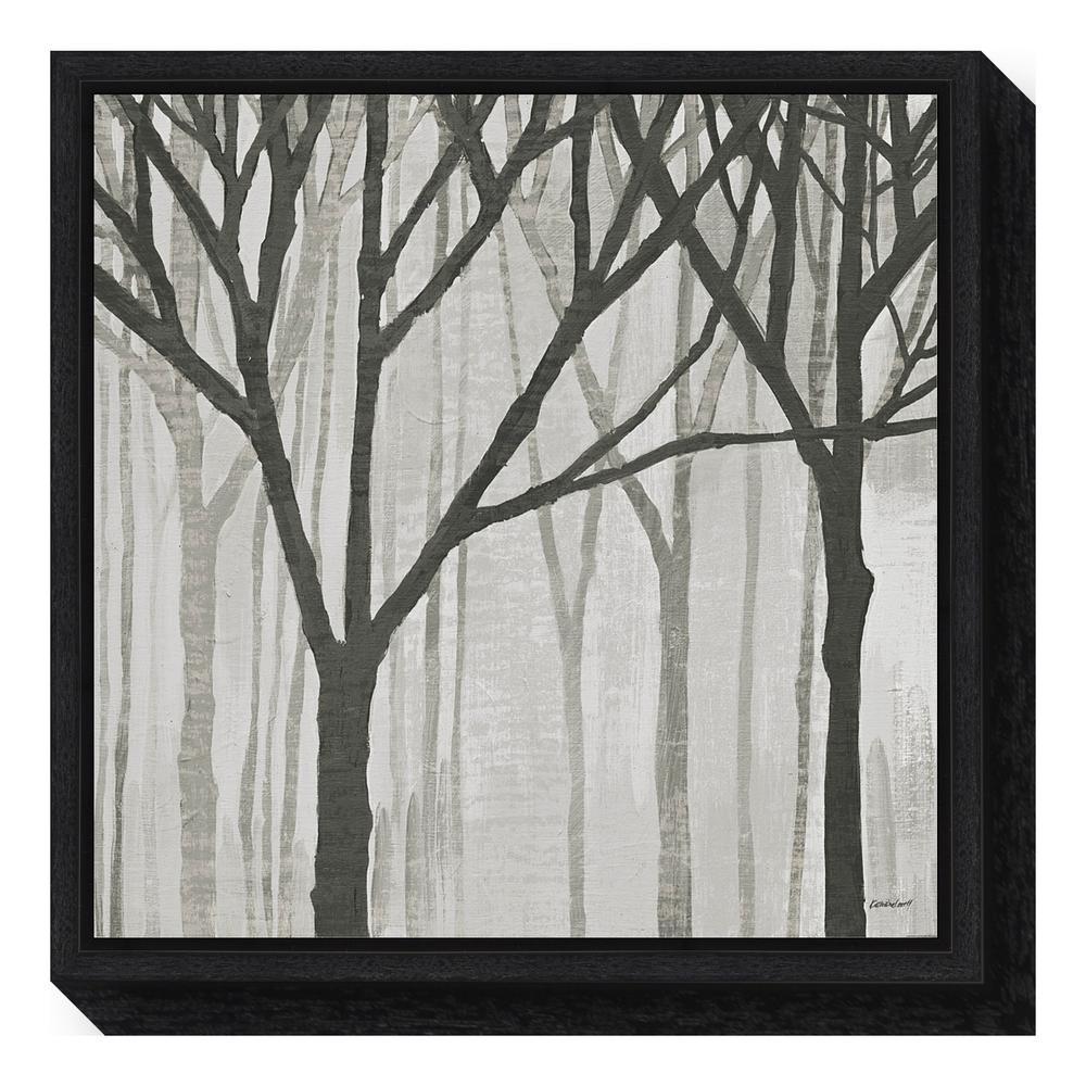 Amanti Art ''Spring Trees Greystone III'' by Kathrine Lovell Framed Canvas