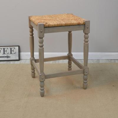 Hawthorne 23.75 in. Weathered Light Gray Bar Stool