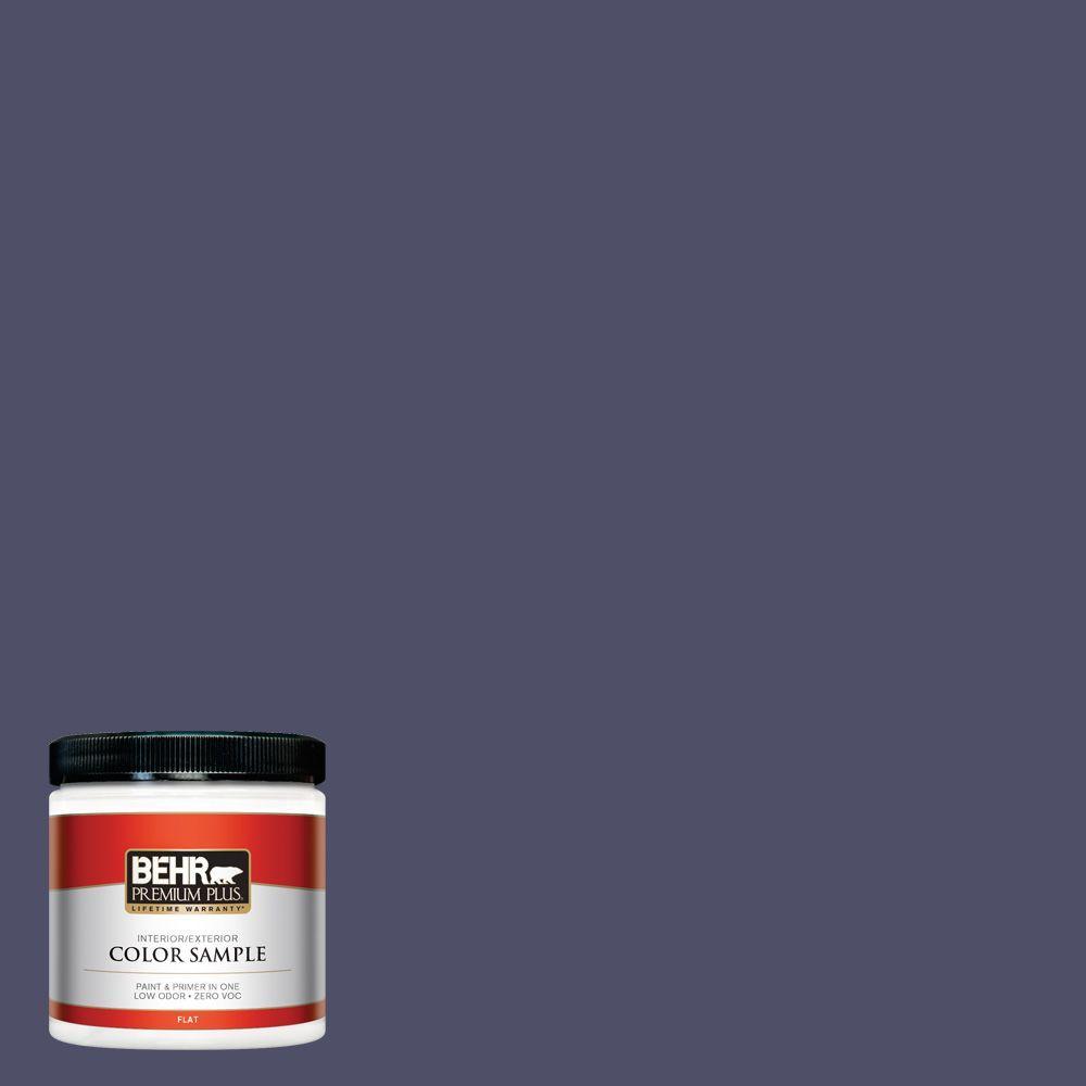 BEHR Premium Plus 8 oz. #640F-7 Academy Purple Interior/Exterior Paint Sample