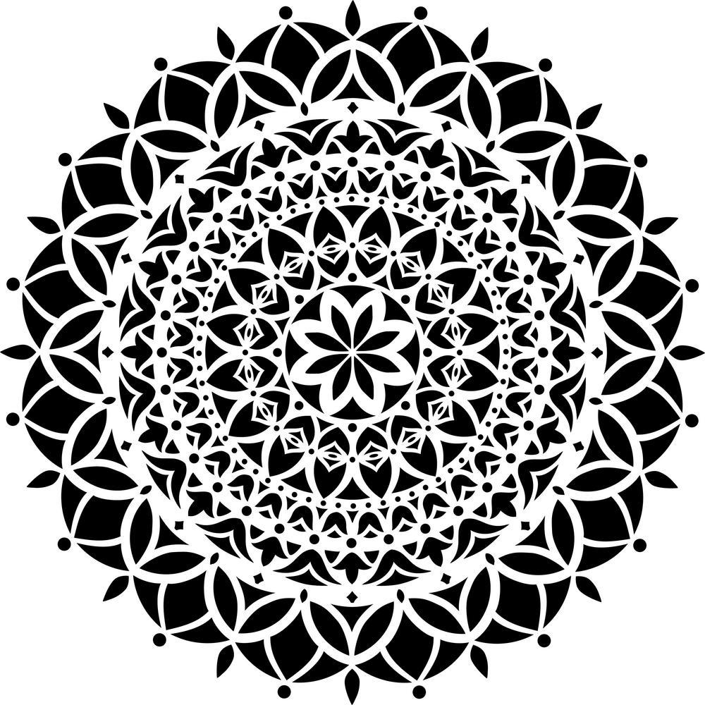 Vedas Mandala Stencil